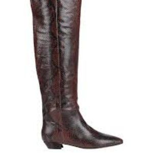 SIGERSON MORRISON Tall Snake print Boots 37.5